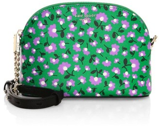 Kate Spade Small Spencer Party Floral Dome Leather Crossbody Bag