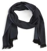 Canali Neat Wool, Cashmere & Silk Scarf