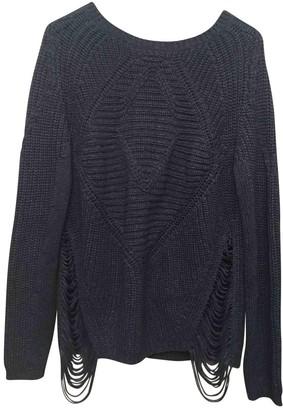 Maje Blue Cotton Knitwear for Women