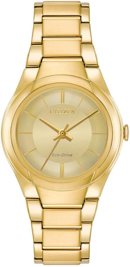 Citizen Eco-Drive Women's Gold-Tone Stainless Steel Bracelet Watch 29mm