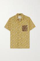 R 13 Tony Printed Cotton And Silk-chiffon Shirt