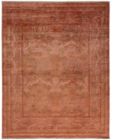 Solo Rugs Ornate Floral Overdyed Handmade Rug