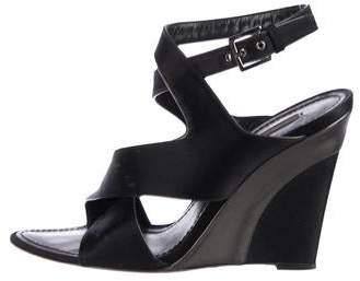 410ef4ce845b Louis Vuitton Satin Wedge Sandals