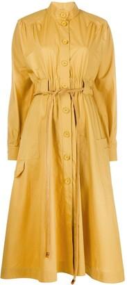Fendi Belted Midi Shirt Dress