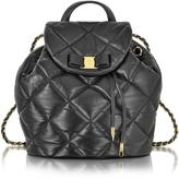 Salvatore Ferragamo Large Black Quilted Leather Vara Backpack
