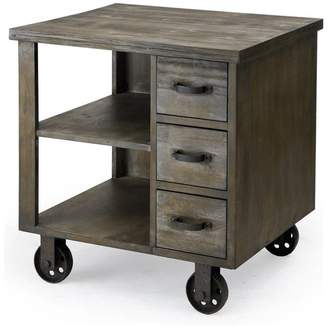 Madison Home USA Signature Cirque Accent End Table on Wheels