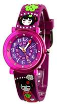 Baby Watch Girls' Watch 606023 – Kyoto – Educational – Purple Dial - Purple Plastic Strap