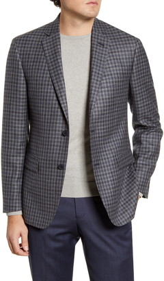 John W. Nordstrom Traditional Fit Check Wool Blend Sport Coat