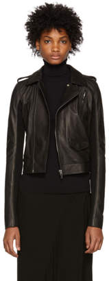 Rick Owens Black Leather Stooges Jacket