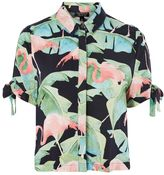 Topshop Flamingo Print Shirt