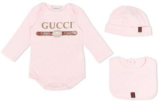Gucci Kids Logo Print Cotton Body