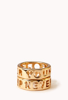 Forever 21 Statement-Making Forever Young Ring Set