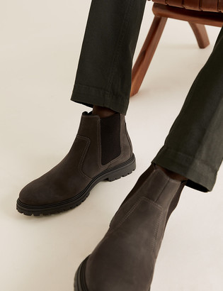 Marks and Spencer Leather Pull-On Chelsea Boots