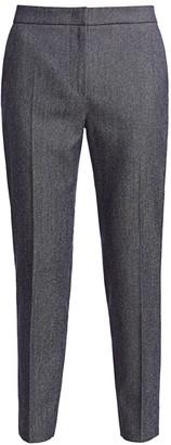 Max Mara Tunisi Denim Effect Wool Slim Pants