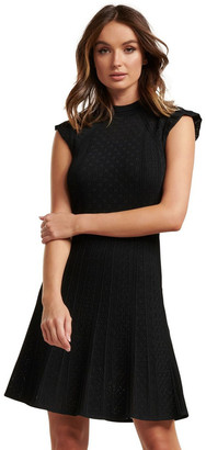 Forever New Ebony A-Line Pointelle Knit Dress