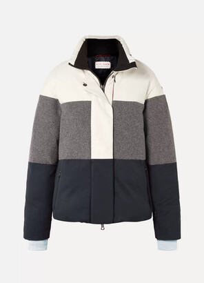 Erin Snow Lola Color-block Paneled Merino And Merino Wool-blend Ski Jacket - Cream