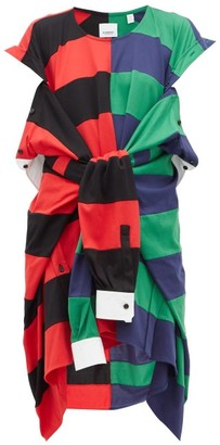 Burberry Rugby-shirt Cotton Dress - Womens - Red Multi