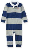 Ralph Lauren Boy Striped Cotton Rugby Coverall