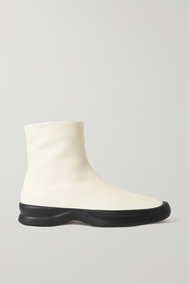 The Row Town Leather Ankle Boots