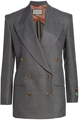Gucci Oversized Wool Double-Breasted Jacket