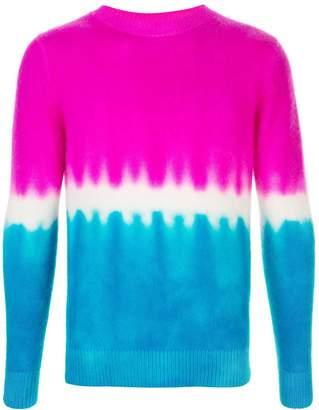 The Elder Statesman tie-dye print cashmere jumper