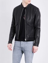 The Kooples MA-1 leather bomber jacket