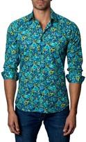 Jared Lang Trim-Fit Floral-Print Cotton Sport Shirt