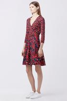 Diane von Furstenberg Jewel Silk Combo Wrap Dress