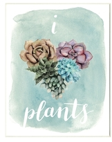 I Heart Plants Succulents by Grace Popp (Wood)