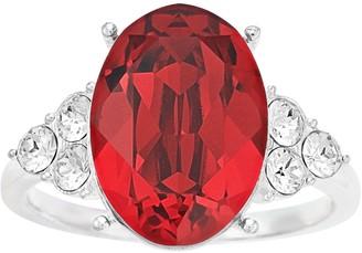 Brilliance+ Brilliance Silver Tone Oval Ring with Swarovski Crystal