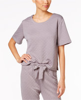 Hue Lounge Quilted Knit Pajama T-Shirt