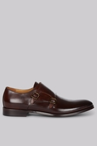 Hardy Amies Brown Double Monk Shoes
