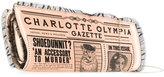 Charlotte Olympia Gazette print frill trim clutch