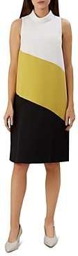 Hobbs London Cecile Sleeveless Color-Block Shift Dress