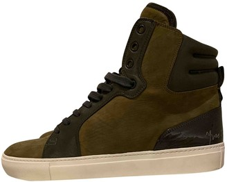Saint Laurent Khaki Suede Trainers