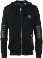 Philipp Plein Nyorai zipped hoodie - men - Cotton/Polyester/Polyurethane - M