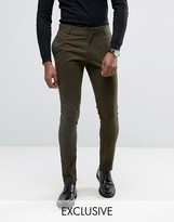 Religion Super Skinny Suit Trousers With Zip Detail