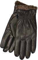 Isotoner Men's Thermaflex SmarTouch Faux Leather Gloves