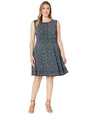 MICHAEL Michael Kors Size Enchanted Sleeveless Border Dress