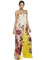 Roberto Cavalli Printed Silk Satin Jumpsuit
