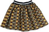 Stella Jean Printed Doubled Cotton Round Skirt