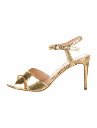 Tory Burch Shayley Leather Sandals Gold