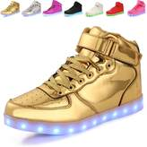 Anluke Kid Boys Girls 11 Colors Led Sneakers Light Up Flashing Shoes For Halloween (8.5 US Toddler / EU 26 )