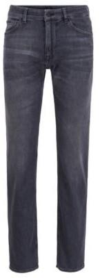 HUGO BOSS Regular Fit Jeans In Lightweight Gray Italian Denim - Dark Grey