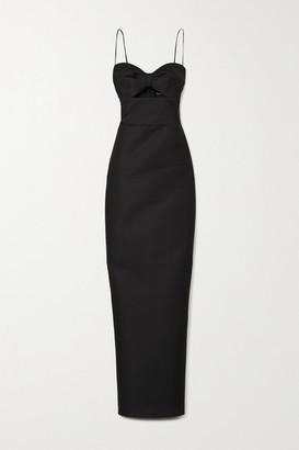 Rasario Cutout Duchesse-satin Gown - Black