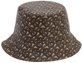 Burberry MONOGRAM COATED COTTON BUCKET HAT