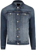 Mens River Island Blue Muscle Fit Denim Jacket