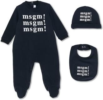 Msgm Kids Logo Print Pajamas