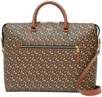 Burberry monogram print briefcase