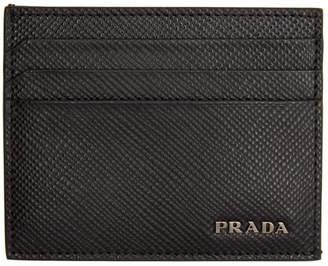 Prada Black Logo Card Holder